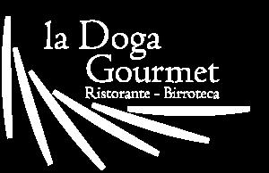 logo bianco ristorante la doga